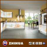 Kitchen Cabinet with UV Flower Pattern Panel (ZH-C819)