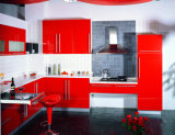Red Glossy Kitchen Furniture (ZHUV factory)