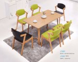 Modern Restaurant Home Solid Wood Dining Room Table with Chairs