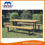 Outdoor Wood Table and Chair
