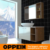 Oppein Classic White&Brown Wooden Bathroom Cabinet (OP15-121B)