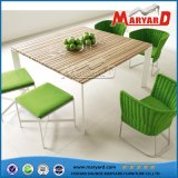 Fashion Style Rattan with Teak Dinner Table and Chiars