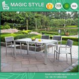 Outdoor Dining Set Dining Chair Aluminum Wire Drawing Chair Aluminum Chair Aluminum Drawing Chair Garden Furniture Patio Furniture Poly-Wood Chair (Magic Style)