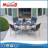 Metal Frame Glass Top Round Table Set