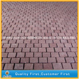 Natural Cheap Red Granite Mosaic Paver Stone for Garden and Park