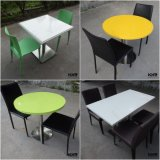 Solid Surface Table Furniture Restaurant Dining Table and Chairs