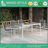 Outdoor Dining Set Dining Chair Aluminum Chair Aluminum Drawing Chair Cafe Chair Poly Wood Table (Magic Style)