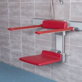 Rehabilitation Bathroom Aluminum Shower Bench Foldable Used in The Hospital