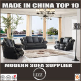 Luxury Classic Black and White Design Leather Sofa Couch