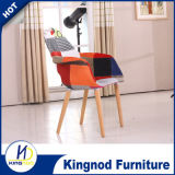 High Quality New Design Emes Cheap Stackable Comfortable Dsw Chair Plastic Chair with Wood Leg