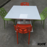 High Glossy Solid Surface Food Court Dining Table with Chairs