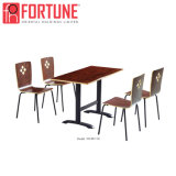 Top-Quality Modern HPL Material Cafe Chairs and Tables with Stainless Steel Legs (FOH-BC20)