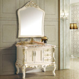 Solid Wood Bathroom Vanity Cabinet (13003)
