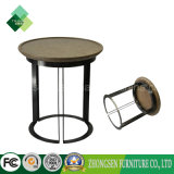 Hot Sale Living Room Furniture Steel Frame Wood Coffee Table