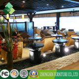 Foshan Shunde Furniture Solid Wood Tables and Rattan Chairs
