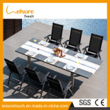 All Weather Stylish Home Furniture Frame in Anodized Aluminum Leisure Modern Dining Table Set Patio Garden Outdoor Furniture