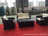 4-PC Kd Rattan Sofa Set with Storage Box Cheap Garden Furniture