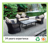 Rattan Furniture Garden Sofa with Outdoor Cushions
