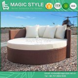 Wicker Sunbed with Cushion Rattan Daybed Outdoor Sofa Garden Sunbed Beach Daybed Deck Daybed