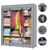 Modern Simple Wardrobe Household Fabric Folding Cloth Ward Storage Assembly King Size Reinforcement Combination Simple Wardrobe (FW-32A)